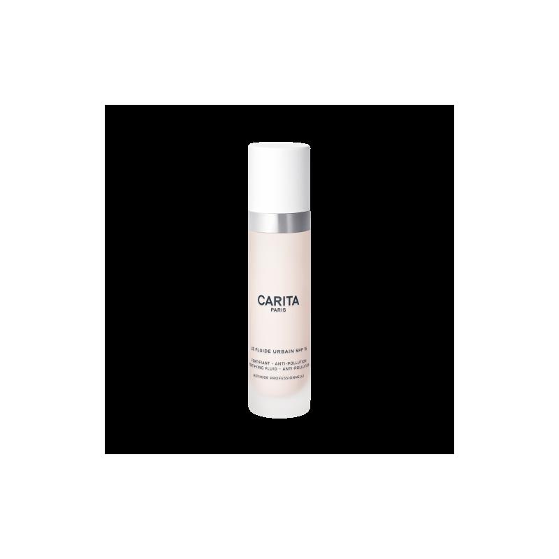 Carita Fluide Urban Crema Viso Idratante, Fortificante con Spf 15, 50 ml