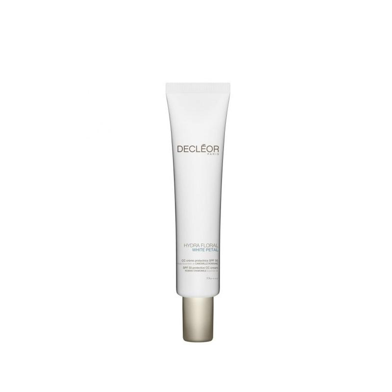 Declèor Hydra Floral White Petal CC Crème Protectrice Spf 50 pelli spente con macchie 40 ml