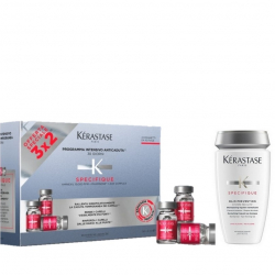 Kerastase kit specifique  Aminexil anticaduta  30 fiale da 6 ml + bain