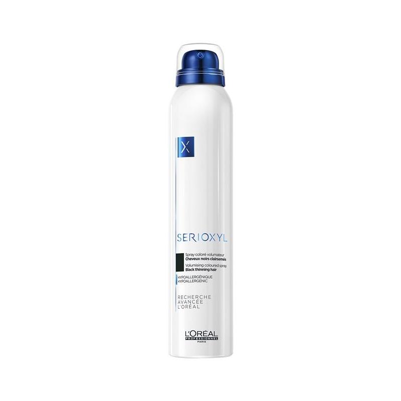 Loreal Serioxyl Spray Volumizzante Colorante  Nero 200 ml