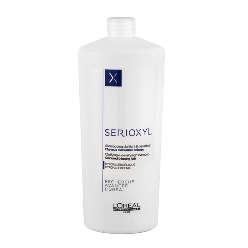 L'Oreal Serioxyl Clarifying & Densifying Shampoo Coloured Thinning Hair 1000 ml