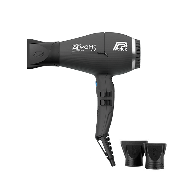 Parlux Alyon Nero Opaco Asciugacapelli Ionizer Tech