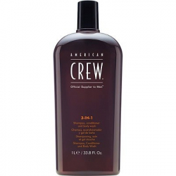 American crew 3-in-1 shampoo, conditioner, body wash 450 ml