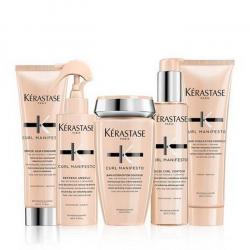 Kerastase Kit Curl Manifesto Bain + fondant + gelè contour + creme de jour + refresh kerastase - 1