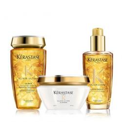 Kerastase elixir ultime kit  le bain + masque + huile original kerastase - 1