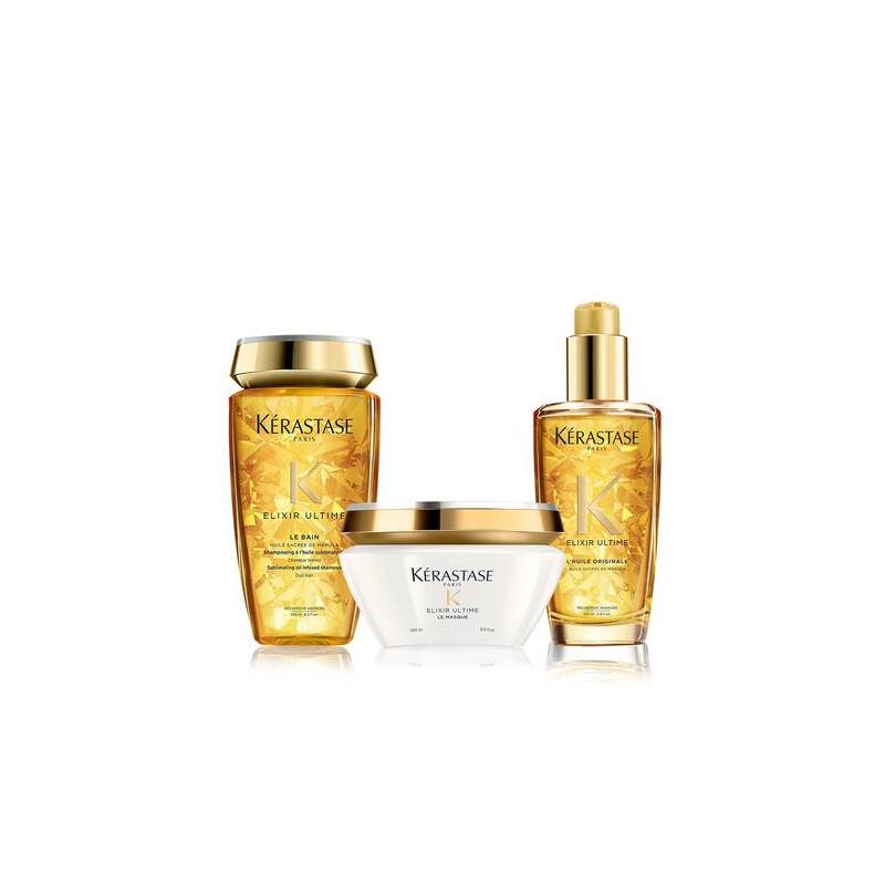 Kerastase elixir ultime kit  le bain + masque + huile original